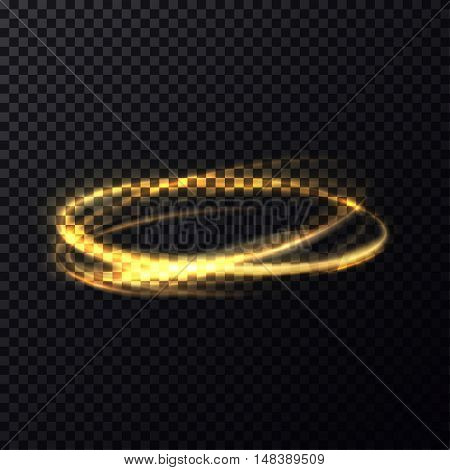 Bokeh glitter round shapes with bleaks. Abstract glowing rings fading effect. Sparkle movement in circles.