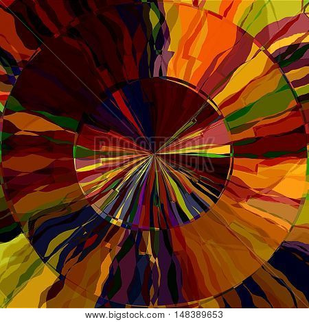 art abstract graphic spherical grunge colored background in gold, orange, red and brown colors; geometric pattern