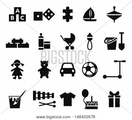 Child store section vector symbols set template