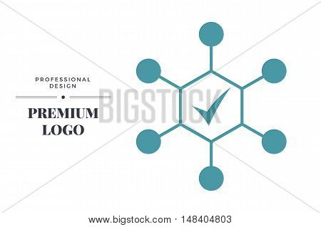 Modern linear icon design. Complex approach vector sign template for web page or logo