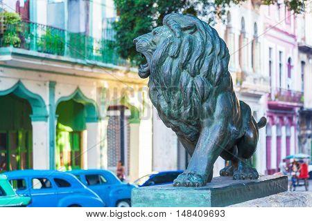 Lion Statues (1927) On Paseo Del Prado, Havana