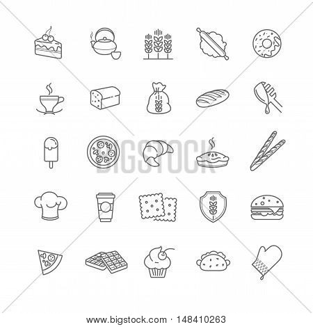 bakery icons, vector stock for your design