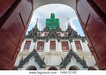 Loha Prasat Metal Palace in Wat Ratchanaddaram Worawihan Bangkok Thailand.