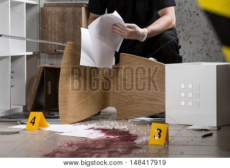 Collection Of Information Constituting The Crime Scene