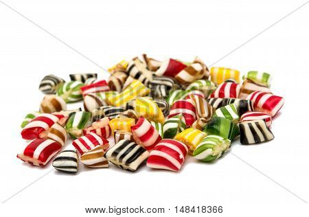 candy lollipops  jellybeans isolated on white background