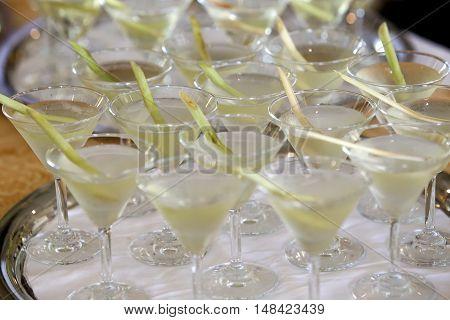 Fresh Lemon Grass Water Healthy Drinks, Thai Herbal Drinks, ,soft Focus