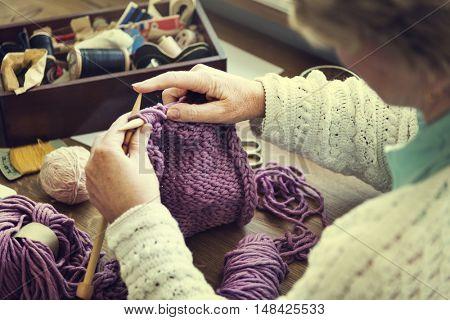 Crochet Craft Stitch Yarn Handmade Hook Concept