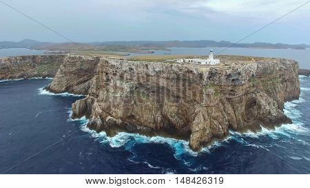 Punta Nati lighthouse. This lighthouse stands on the cliffs of Punta Nati in the far north-west of Menorca