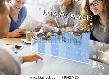 Data Analytics Online Survey Feedback Concept poster
