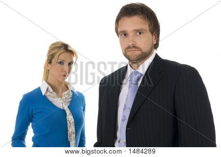 Two Young Contemporary Business People