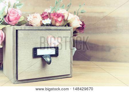 Vintage Wood Box.