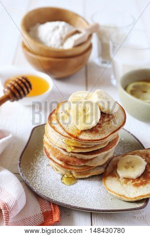 Gluten-free: Pancake with rice milk and rice flour
