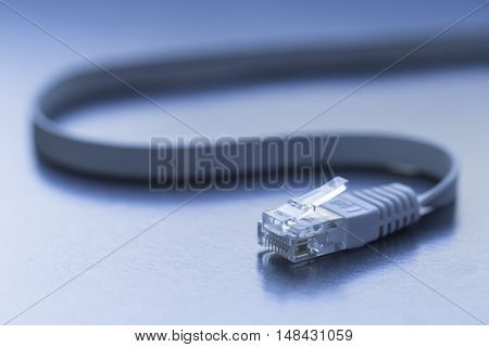 A close up of a LAN connector
