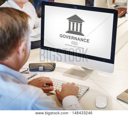Authority Government Pillar Graphic Concept