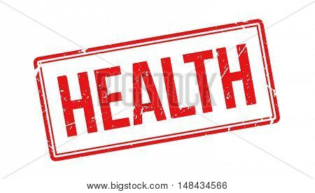 Health Rubber Stamp