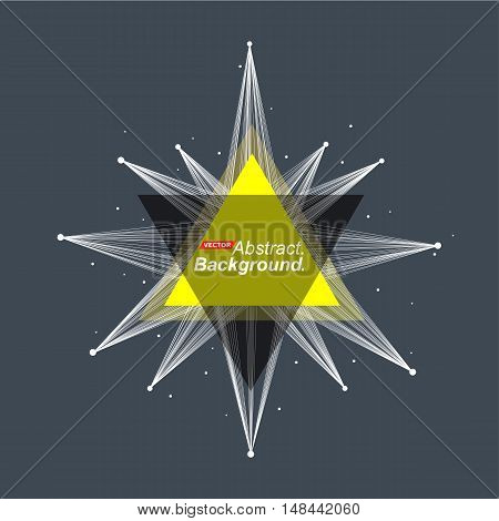 Abstract Model. Minimalistic Fashion Backdrop Design. Yellow Space Star Shine Icon. Explosion Light
