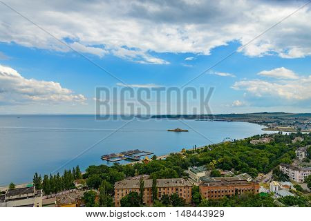 The Kerch Bay the view from the top of mount Mithridates