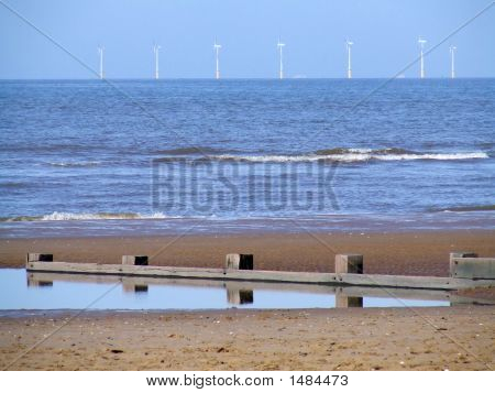 Beach And Turbines