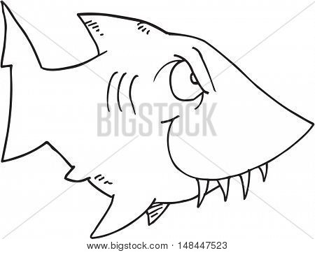 Doodle Shark Vector Illustration Art