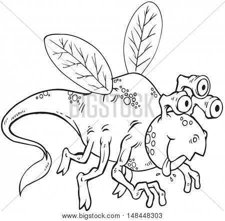 Alien Monster Doodle Vector Illustration Art