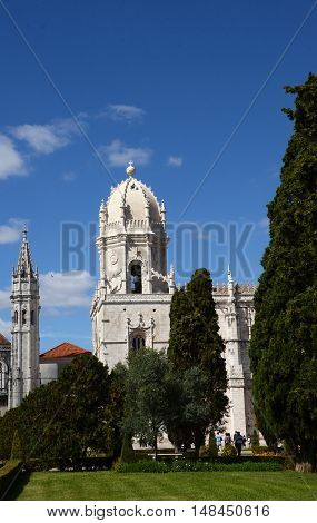 Monastery of Jeronimos in Lisbon, a mediaval building