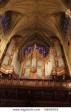 The Chancel Organ In St. Patrick's Cathedral