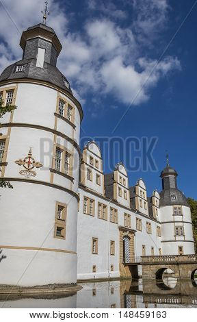 Corner Tower Of The Nauhaus Castle In Paderborn