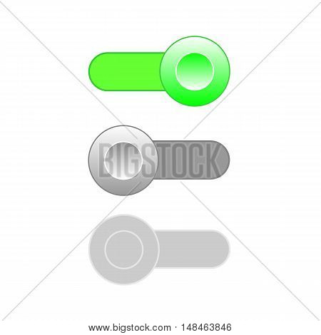 On Off Enable Disable switch icons. Vector illustration.