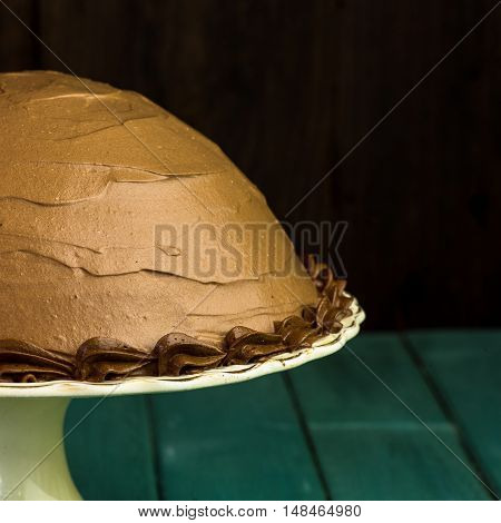 Chocolate Coffee Hazelnut Half Sphere Cake With Decorative Piping