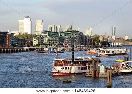 Ships On Thames