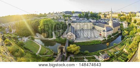 The Superb View Of The Grund, Luxembourg