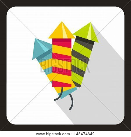 Party poppers icon in flat style on a white background vector illustration