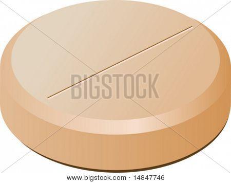 A pill, medicine. 3d isometric vectorillustration