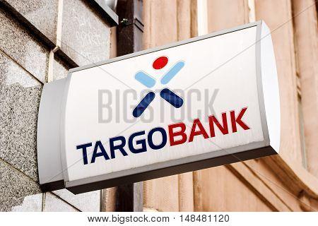 Rostock, Germany - August 22, 2016: Logo of the brand Targo Bank in Rostock
