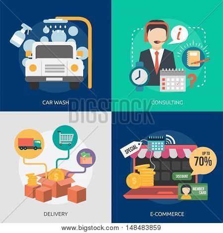 Business Concept Design | Set of great vertical banner flat design illustration concepts for business, people, marketing, working, idea, event and much more.