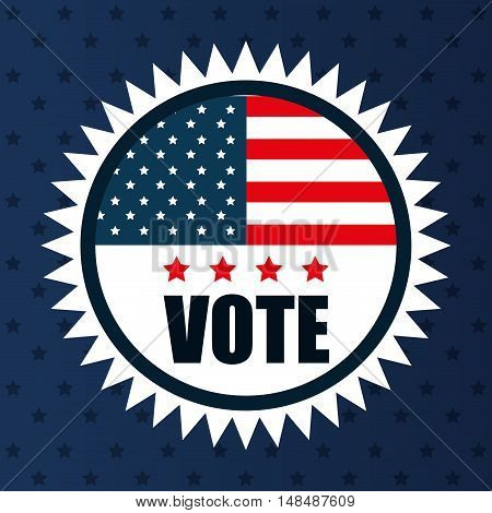 icon flag vote usa election graphic vector illustration eps 10