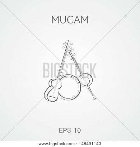 Mugam musical instruments. Mugam - folk musical compositions from Azerbaijan. Mugham.