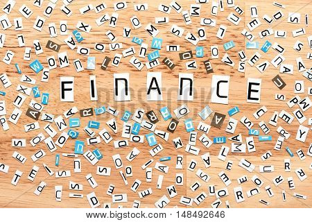 Finance Word From Cut Out Letters