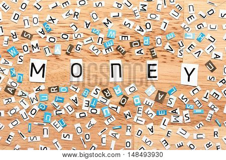 Money Word From Cut Out Letters