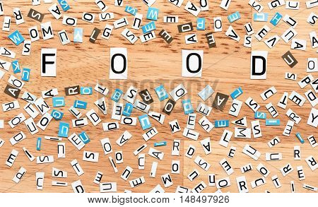 Food Word From Cut Out Letters
