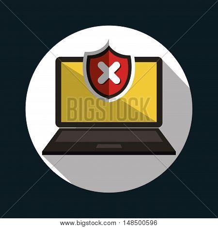 laptop error warning design vector illustration eps 10