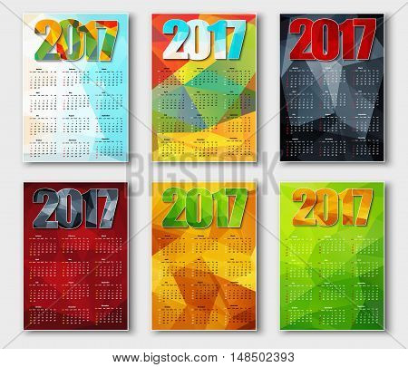 Set Polygonal Calendar 2017
