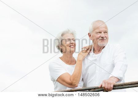 Active and happy senior couple