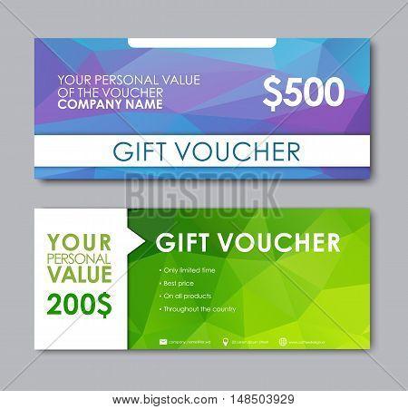 Design Gift Vouchers Polygonal