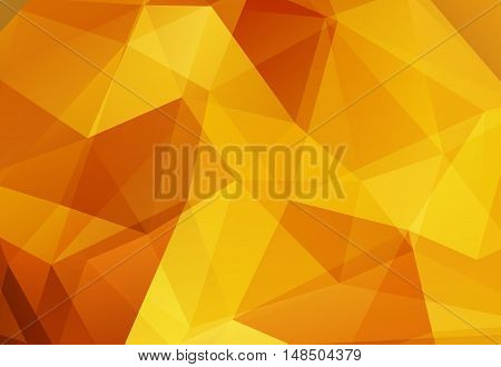 Gold abstract polygonal background for a web and the press. Vector illustration