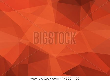 Bronze abstract polygonal geonetry  background. Vector illustration