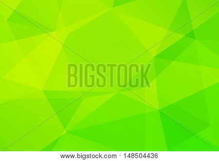 Abstract Green geometrical polygonal background. Vector illustration