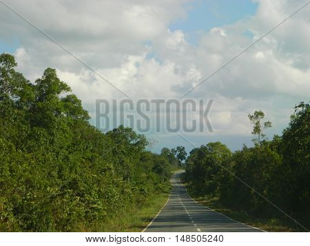 The road we have to pass from Manggar to TanjungPandan at Belitung island.