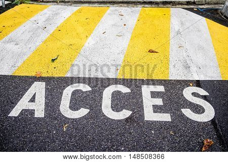 Access in a street of Toulouse France Europe