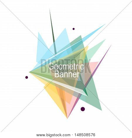 Abstract Composition. Minimalistic Fashion Backdrop Design. Patch Triangles Icon. Figure Font Textur